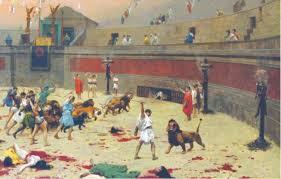Roman Coliseum with lions