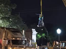 monument being removed in NO